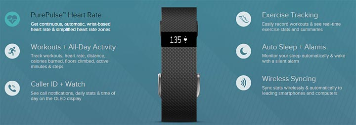 photo bracelet connecté Fitbit Charge HR