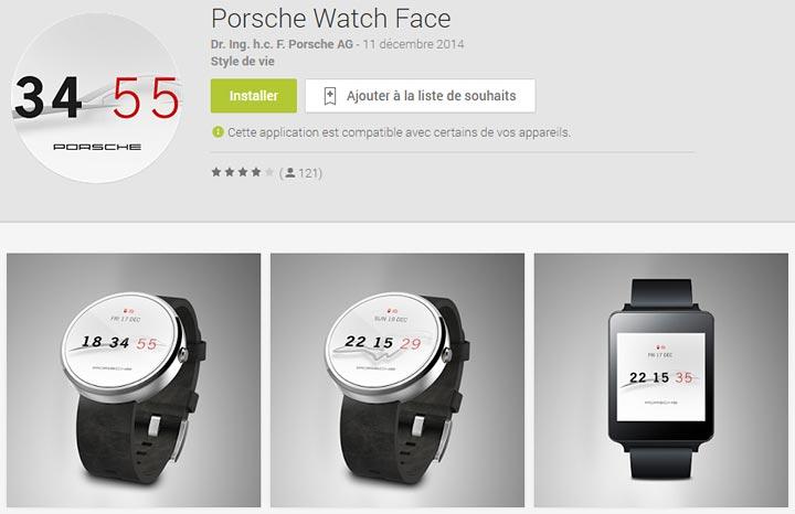 theme Porsche fond ecran image montre Android Wear