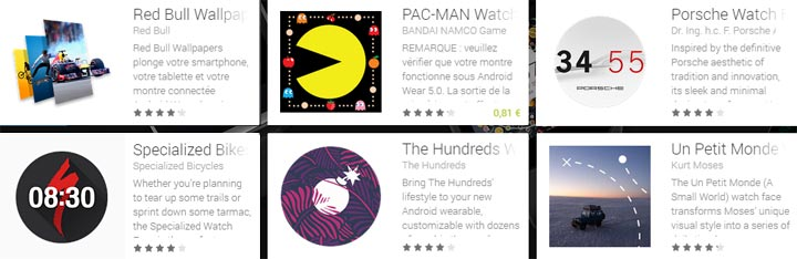 theme fond ecran image montre Android Wear