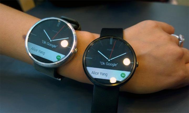 photo montre connectee Motorola Moto 360