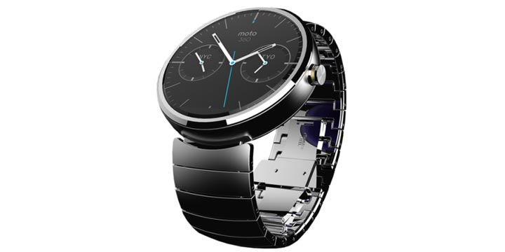 photo montre connectee Motorola Moto 360