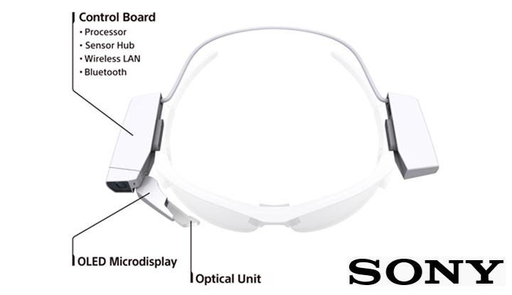 lunettes connectees Sony smartglass smarteyeglass