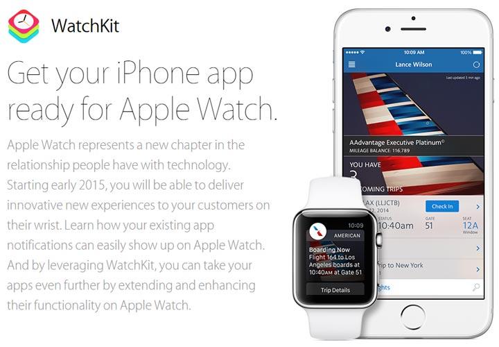 Apple Watch montre connectee WatchKit SDK