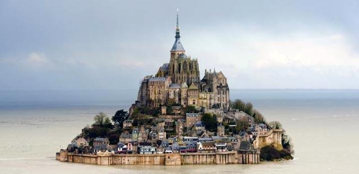 Mont Saint Michel video drone