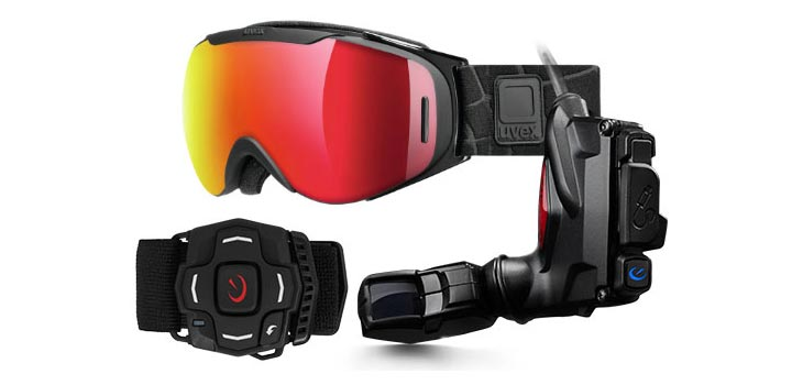 photo masque ski snowboard connecte Recon Snow2