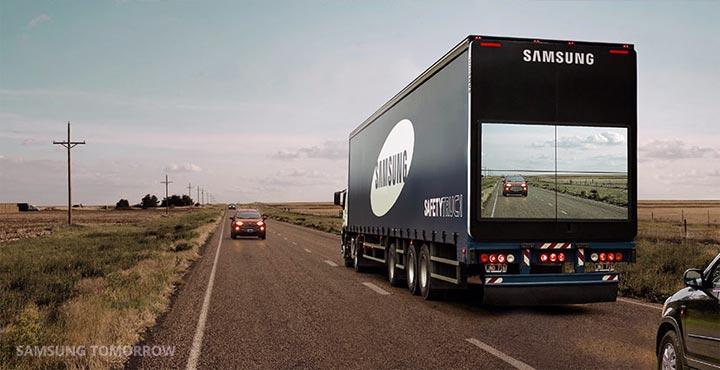 camion connecté Samsung