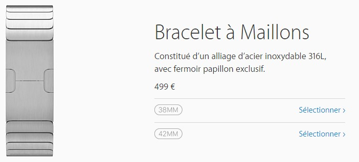 apple watch bracelet acier