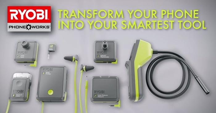 Ryobi Phone Works application mobile
