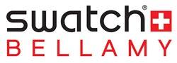 montre paiement sans contact Swatch Bellamy logo