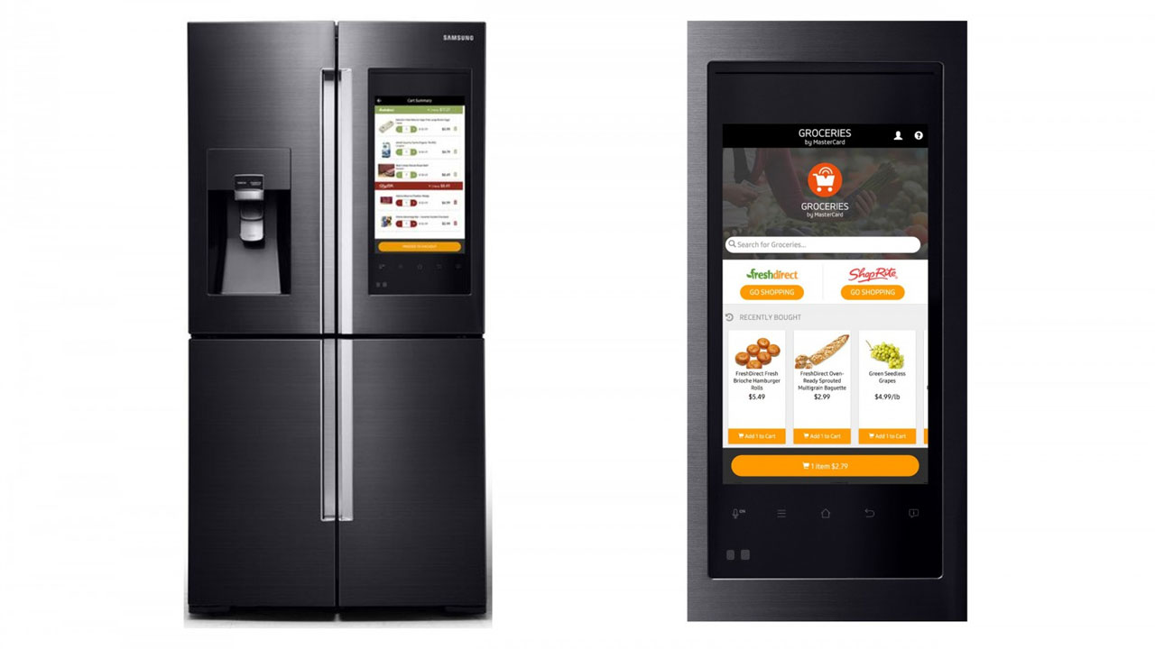 samsung invente le frigo intelligent et connect. Black Bedroom Furniture Sets. Home Design Ideas