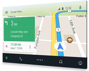 Google Android Auto GPS voiture auto vehicule