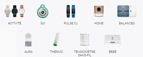 Withings gamme de produits 2016
