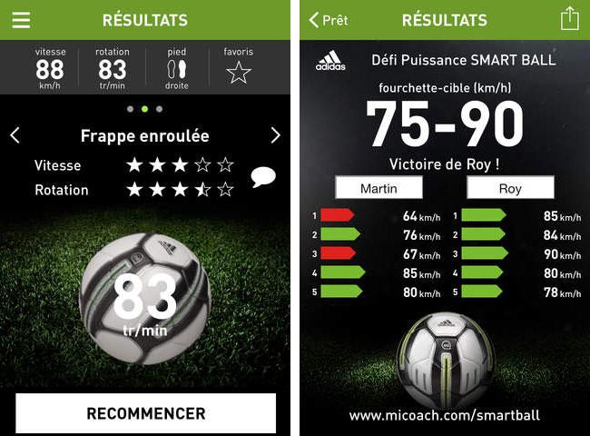 ballon de football connecté Adidas miCoach Smart Ball