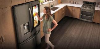 frigo connecté LG réfrigirateur cuisine domotique iOT