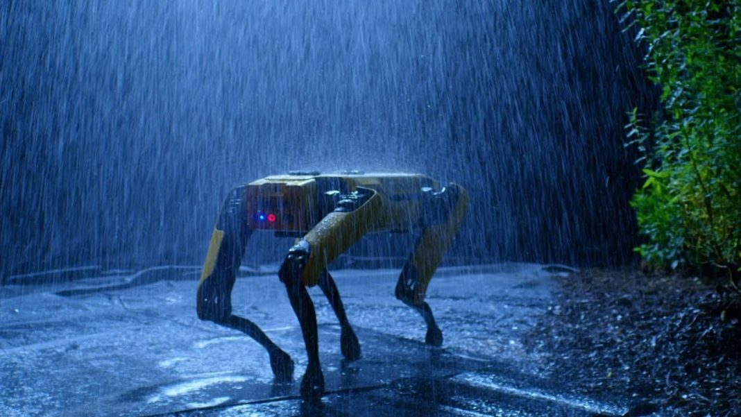 photo chien robot spot boston dynamics